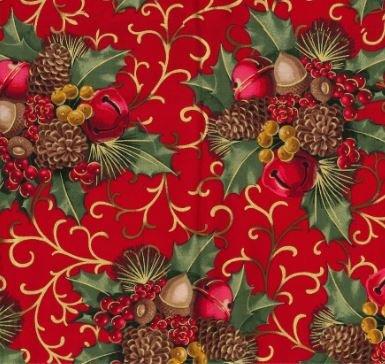 *EOB* Berries & Bells 8112 Red - 0.36 YD