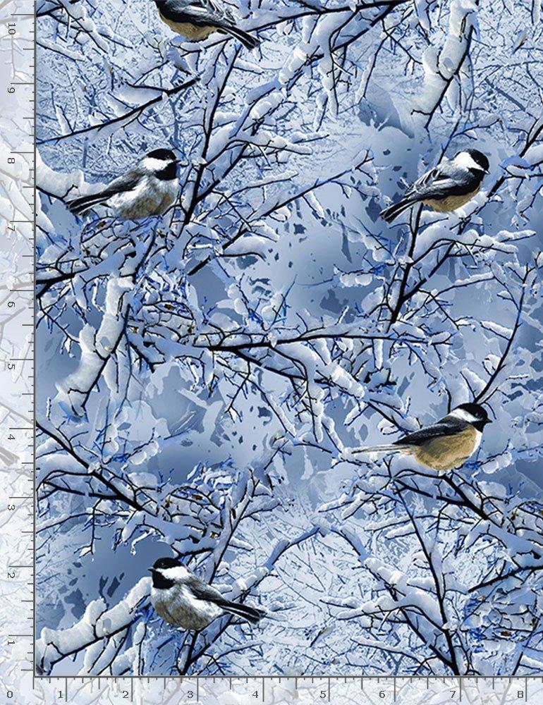 Winter Chickadees C7850 Blue