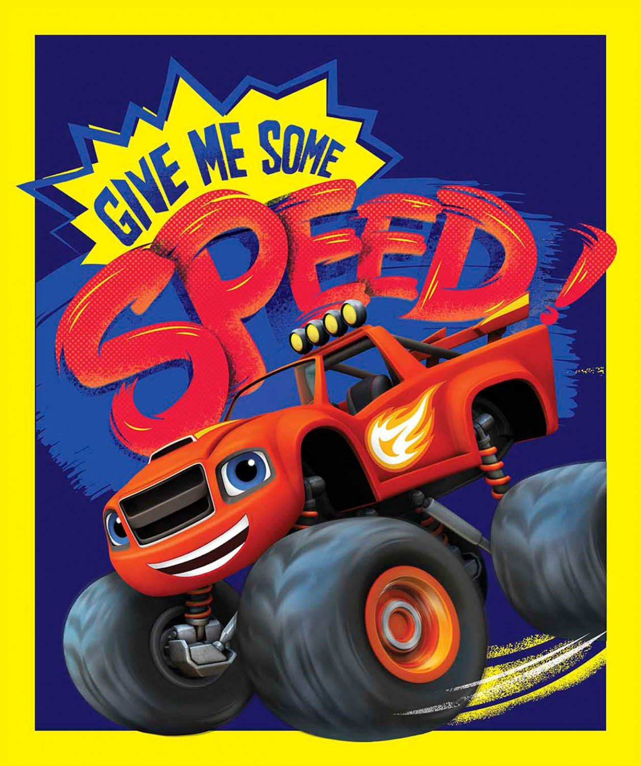 Nickelodeon Blaze Give Me Speed Panel 57154