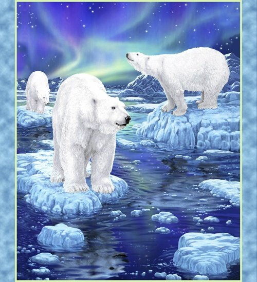 Northern Lights 24423-B Polar Bear 36 Panel