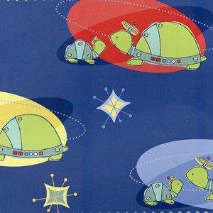 Bot Buddies Flannel F7534-1 Turtles Blue