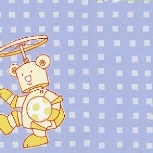 Bot Buddies Flannel F7535-7 Bot Bear Blue Plaid