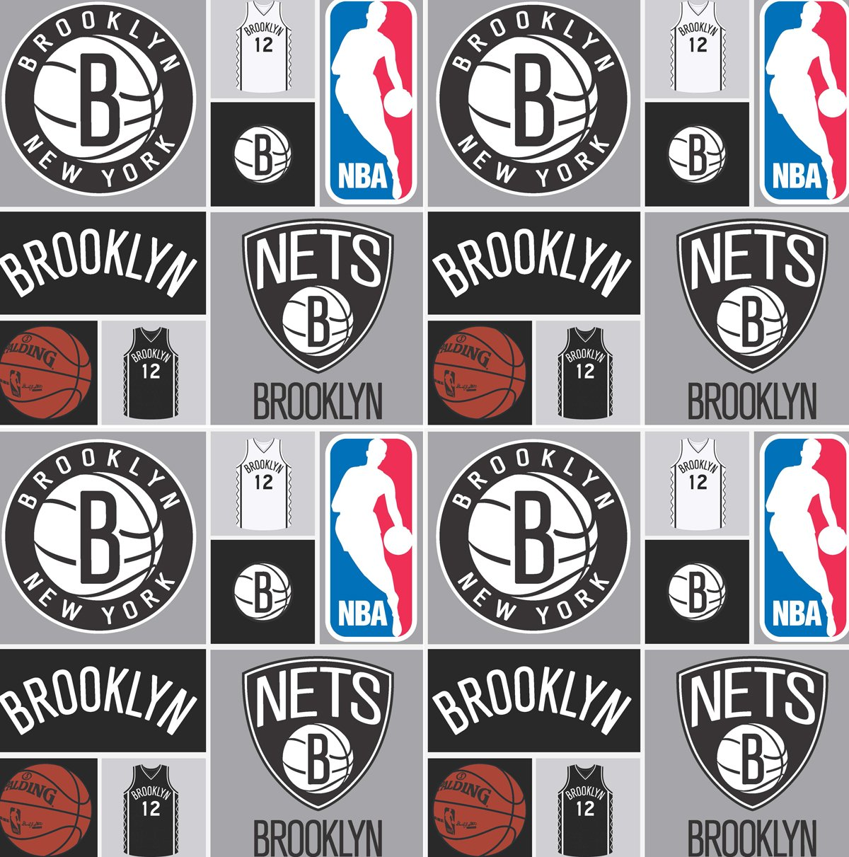 NBA Brooklyn Nets 083 Grey/Black