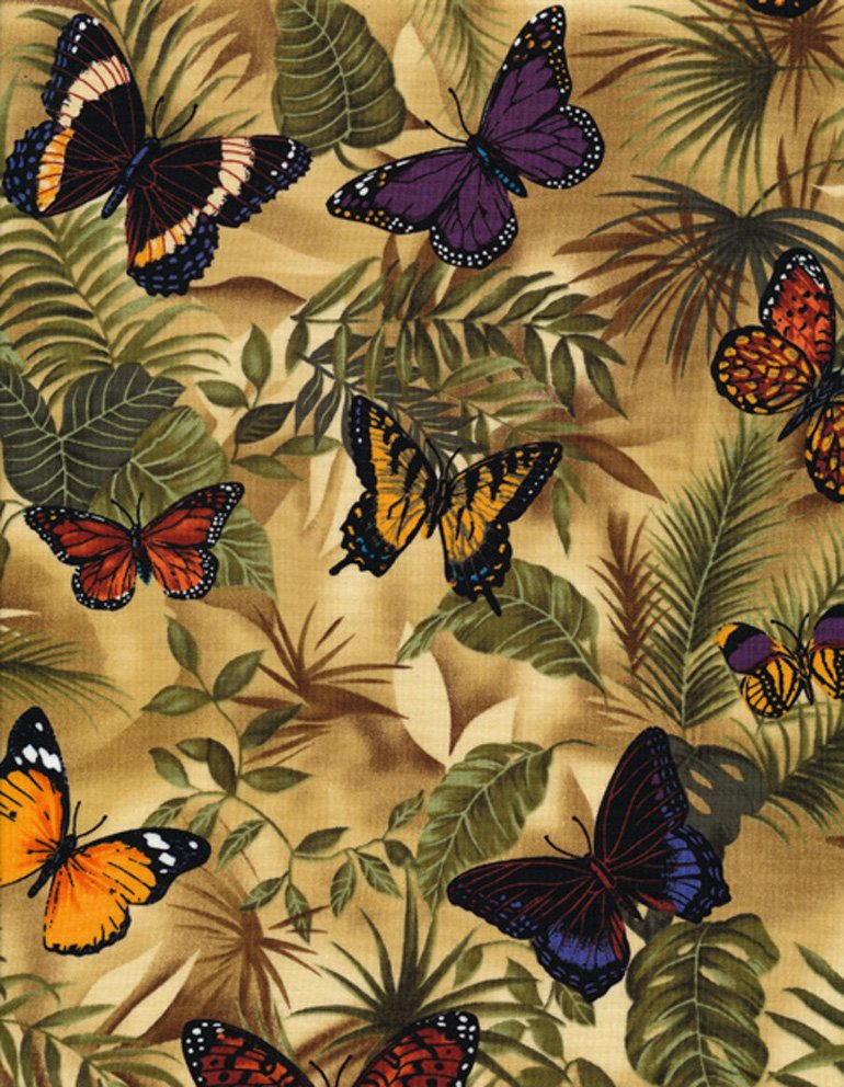 Butterflies on Leaves C3518