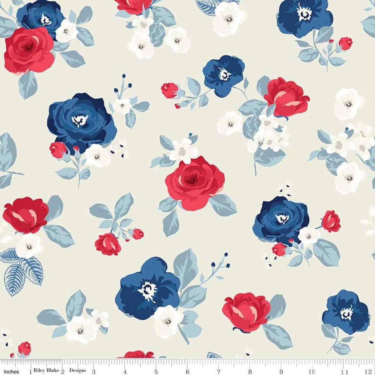 Land of Liberty C10560 Roses Cream