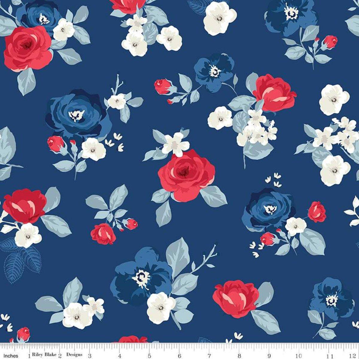 Land of Liberty C10560 Roses Navy