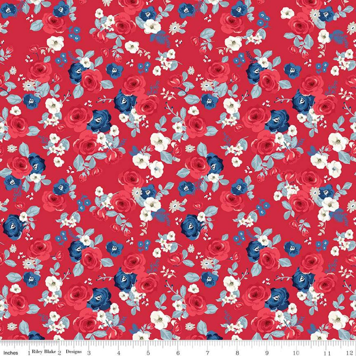 Land of Liberty C10561 Calico Red
