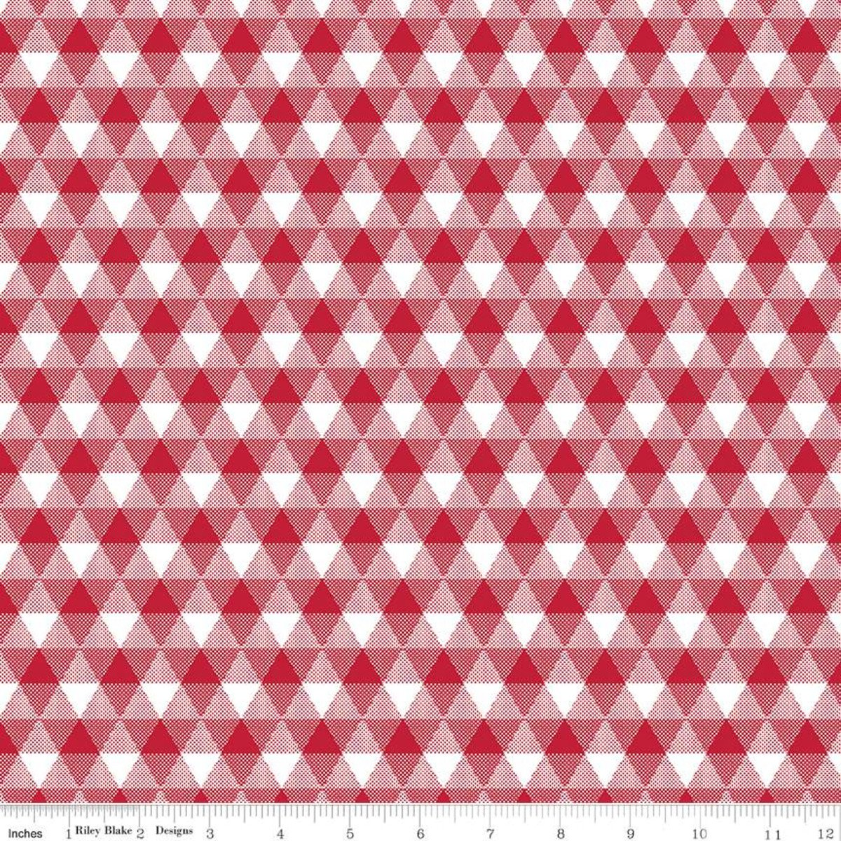 Land of Liberty C10563 Triangle Gingham Red
