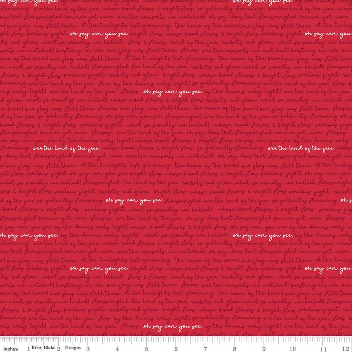 Land of Liberty C10566 Text Red