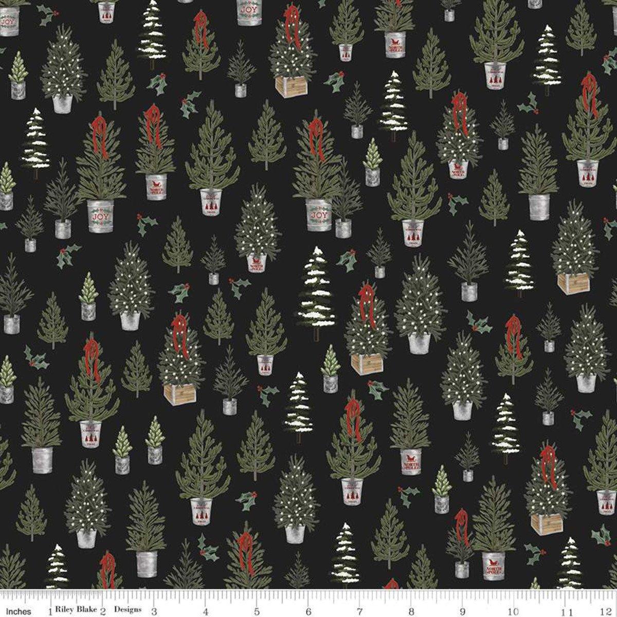 Farmhouse Christmas C10951 Christmas Trees Black