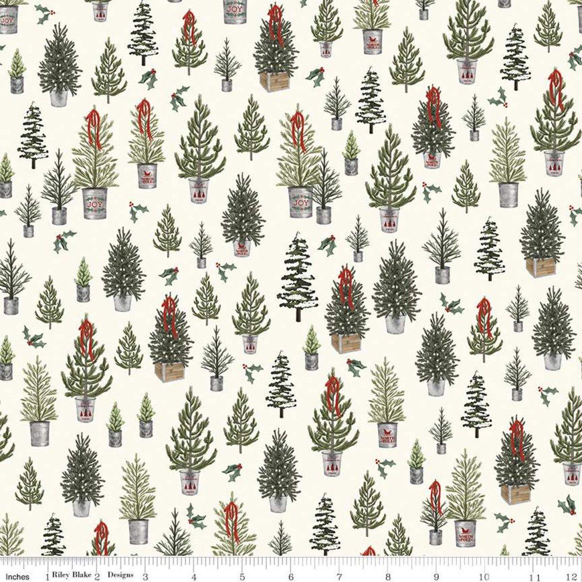 Farmhouse Christmas C10951 Christmas Trees Cream