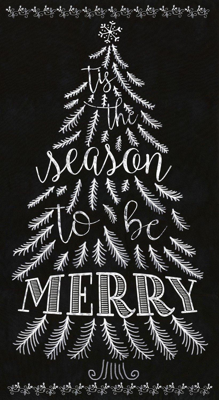 Season to be Merry C5184 Chalkboard Panel