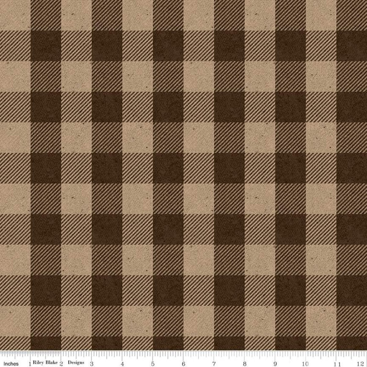All About Plaids C635 Buffalo Check Brown