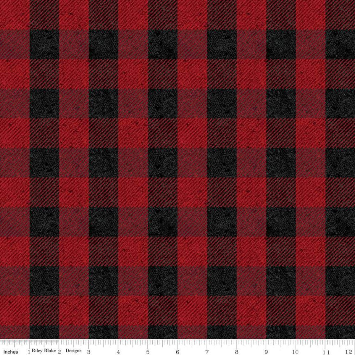 All About Plaids C635 Buffalo Check Red