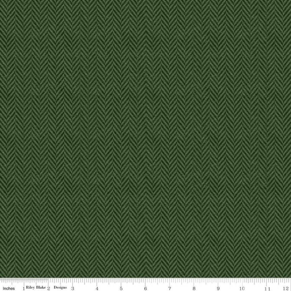 All About Plaids C636 Herringbone Green