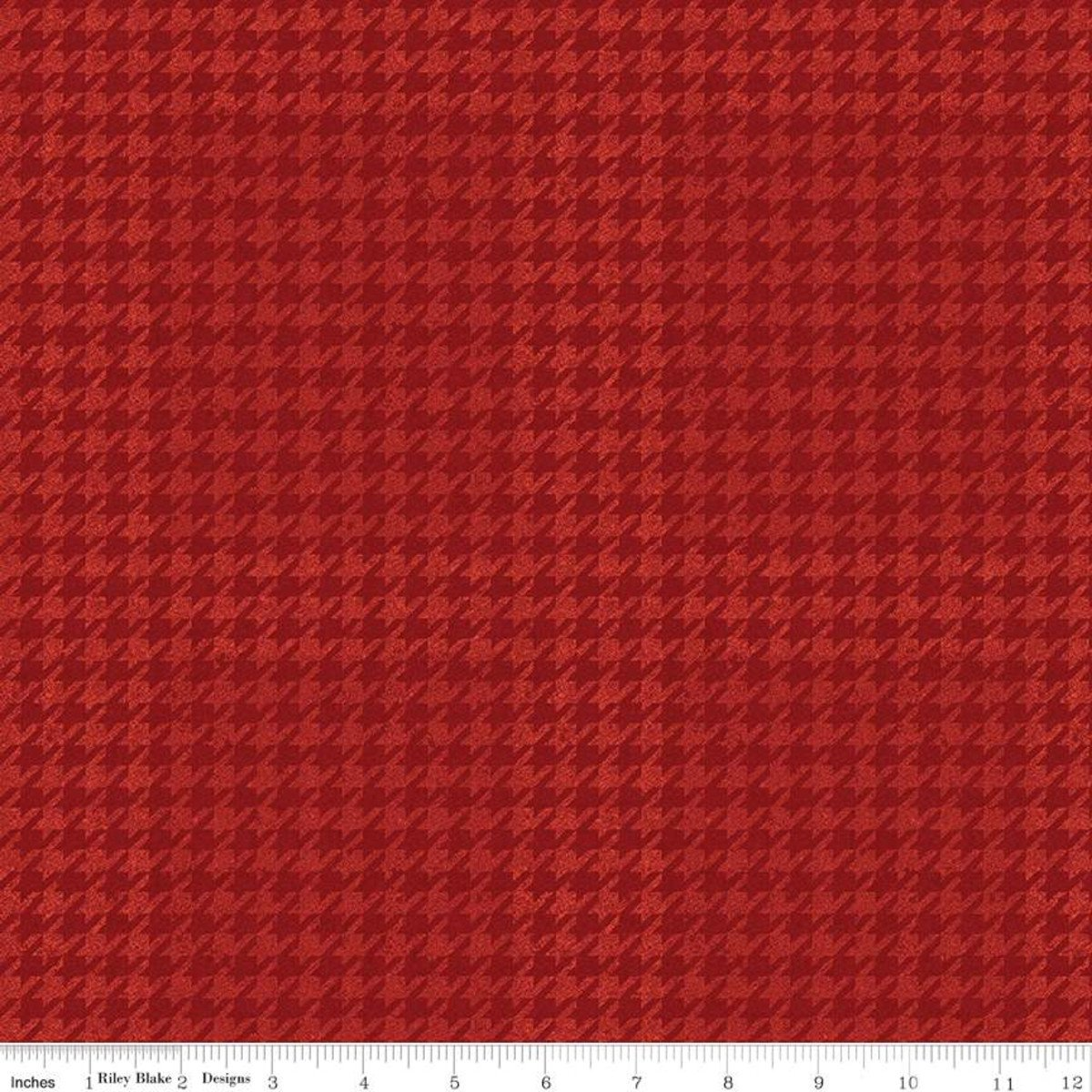 All About Plaids C637 Houndstooth Red