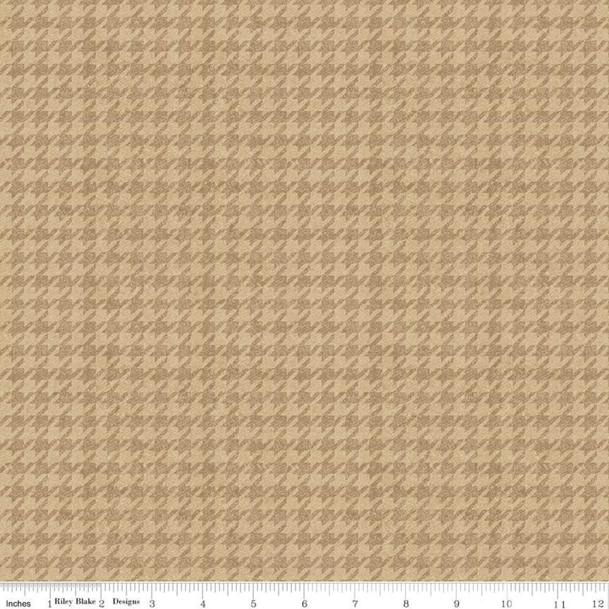 All About Plaids C637 Houndstooth Tan