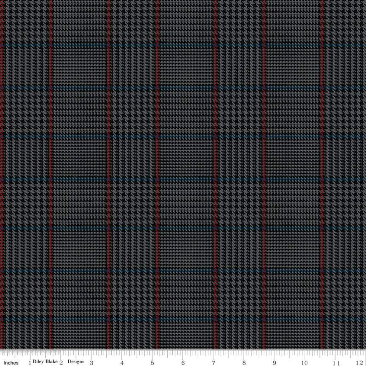 All About Plaids C639 Tweed Black