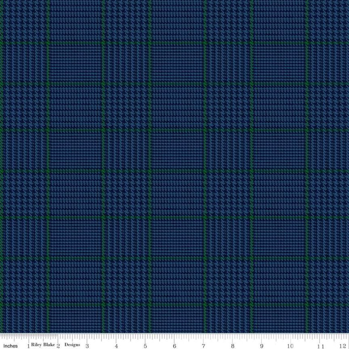 All About Plaids C639 Tweed Blue