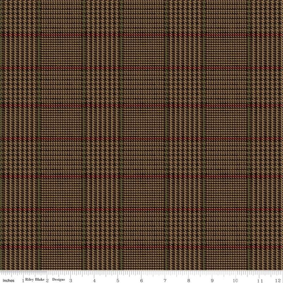 All About Plaids C639 Tweed Brown