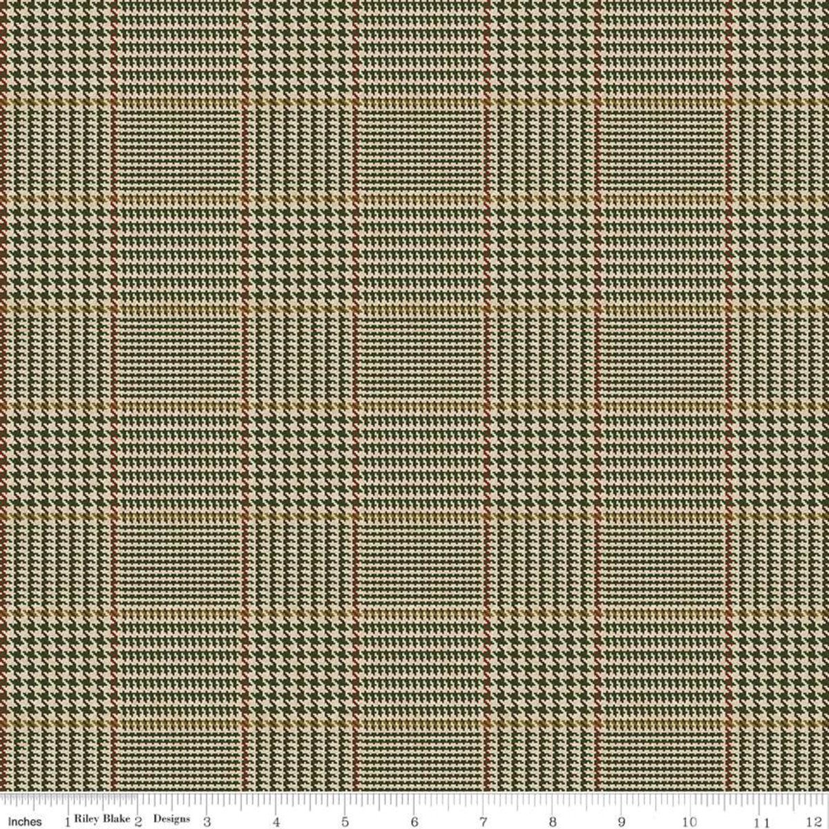 All About Plaids C639 Tweed Green