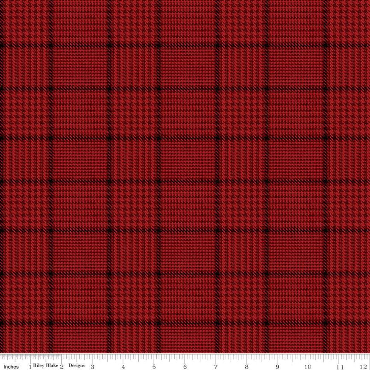 All About Plaids C639 Tweed Red