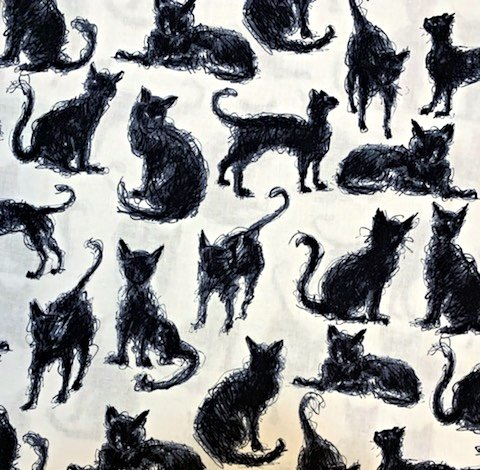 Black Cats C6542 Furry Scribble