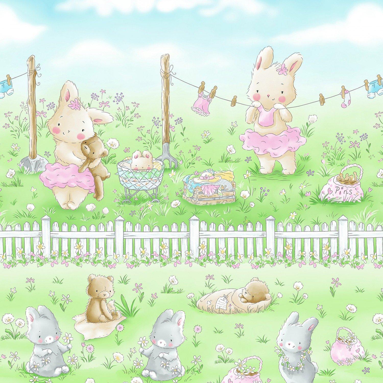 Ballerina Bunny C7249 Border Stripe