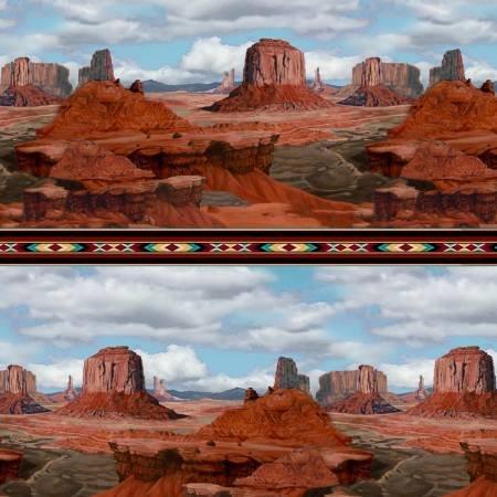 Desert C7352 Sedona Rocks Border Stripe