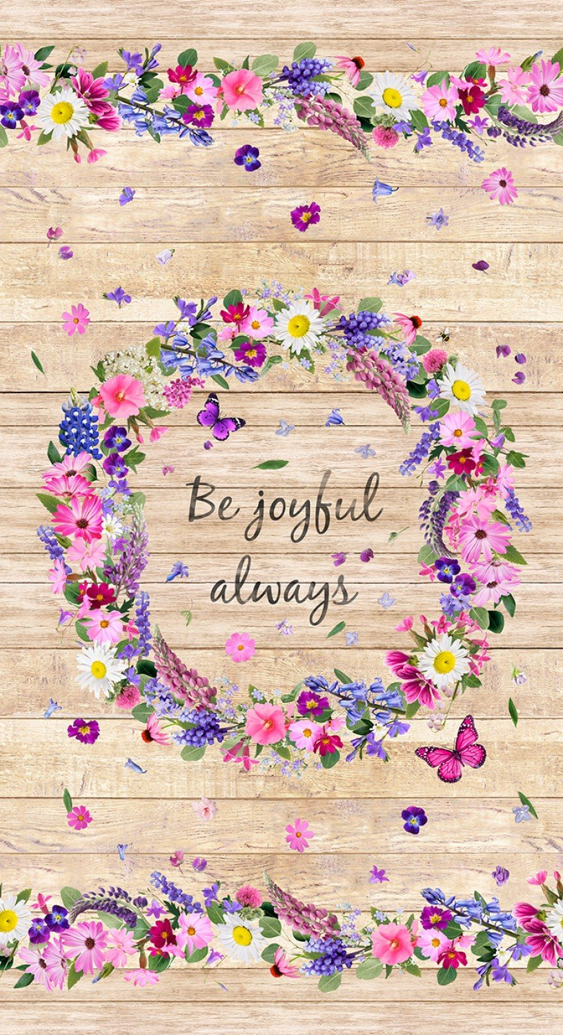 Be Joyful Always Wreath C7564 Panel