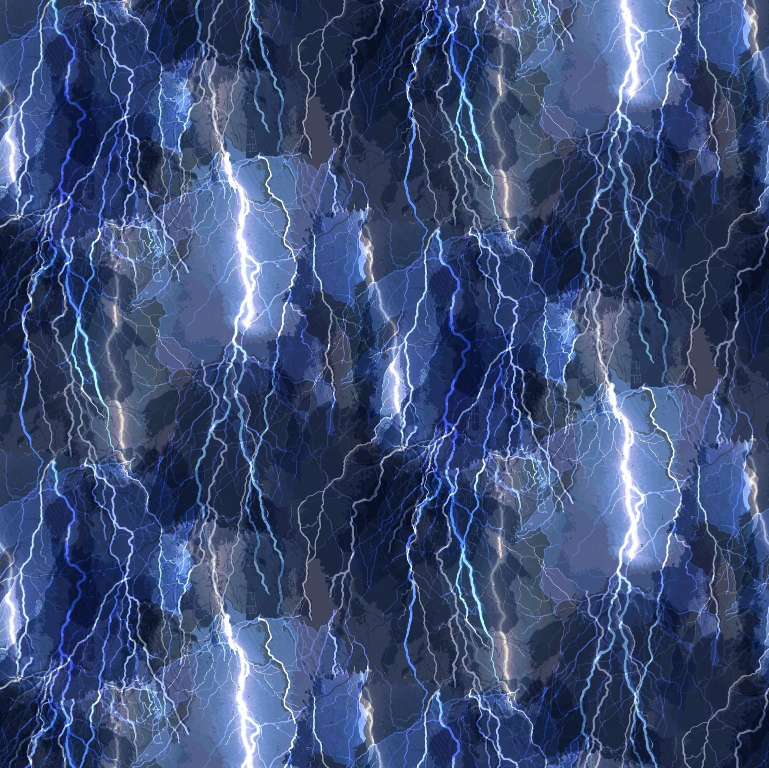 Aurora Crackling Lightning Bolts C8410 Blue