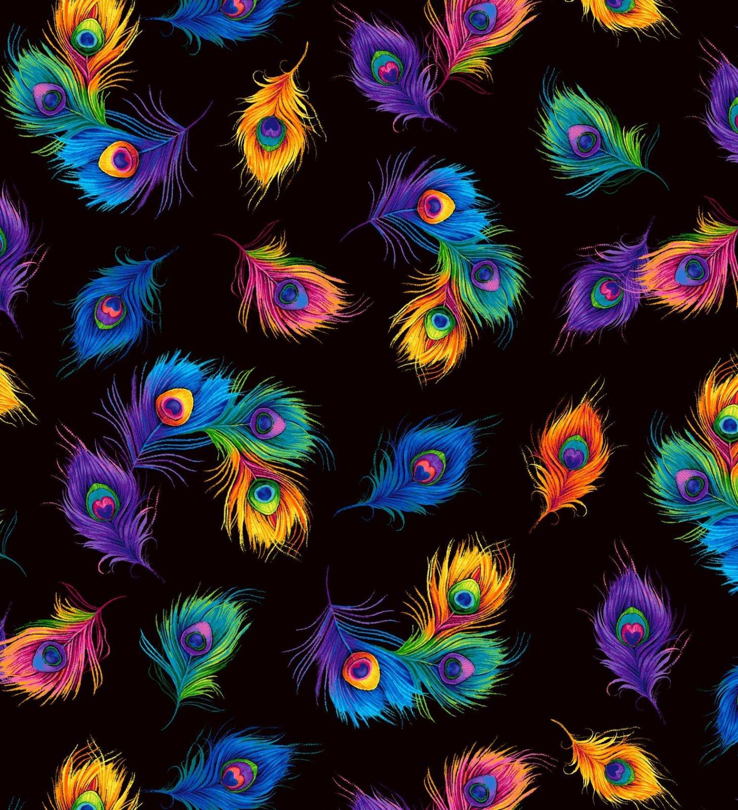 Rainbow Peacock C8413 Tossed Feathers