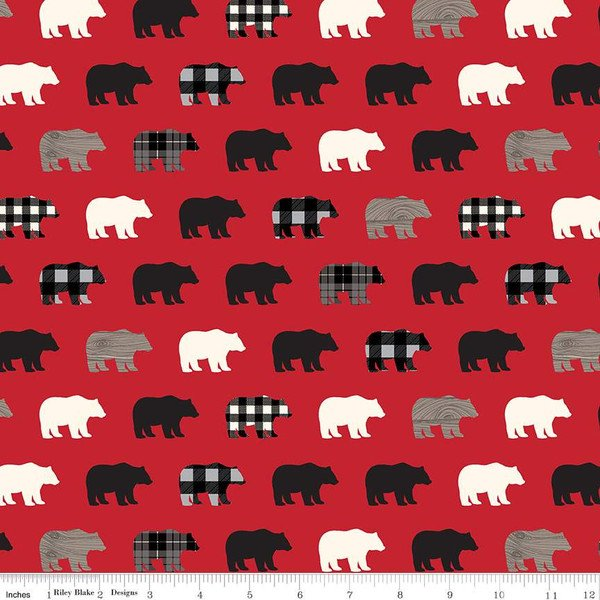 Wild At Heart C9821 Bears Red