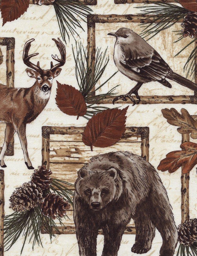 Cabin Patch Deer Bear Moose C4802