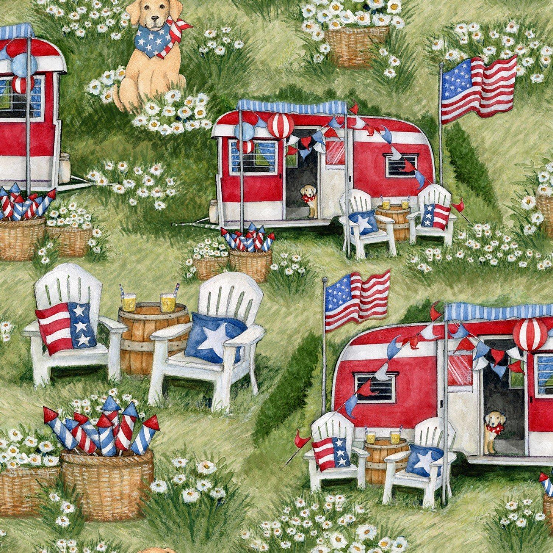 Patriotic 72542 Camping