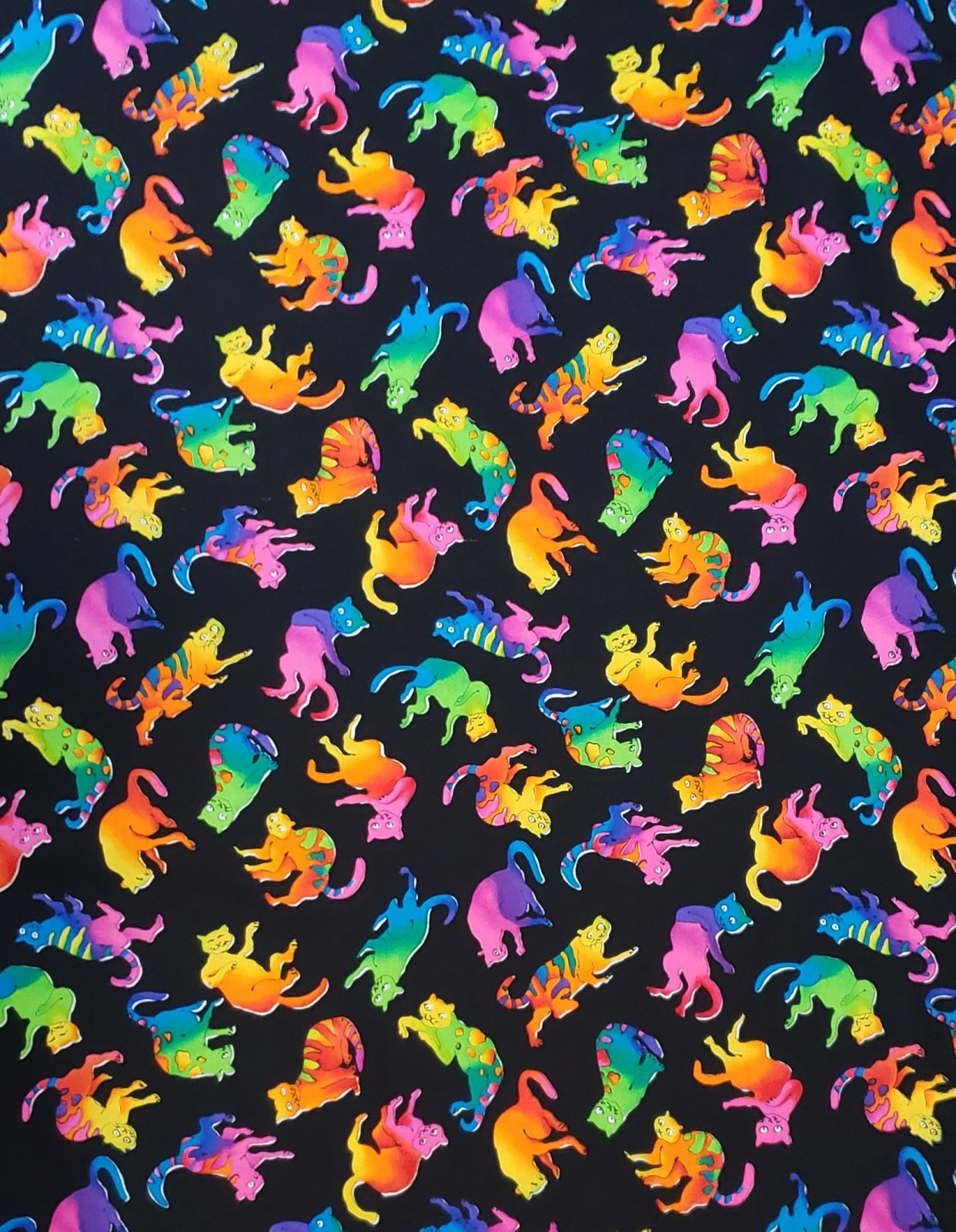 Colorful Cats 180 Black