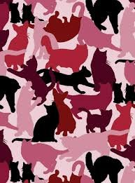 Cat Silhouettes Pink 452