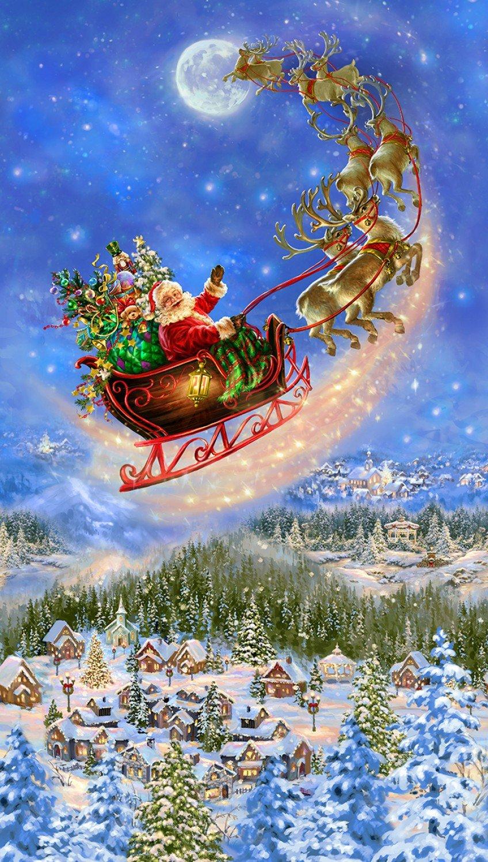 Santa's Sled CD6879 24 Digital Panel