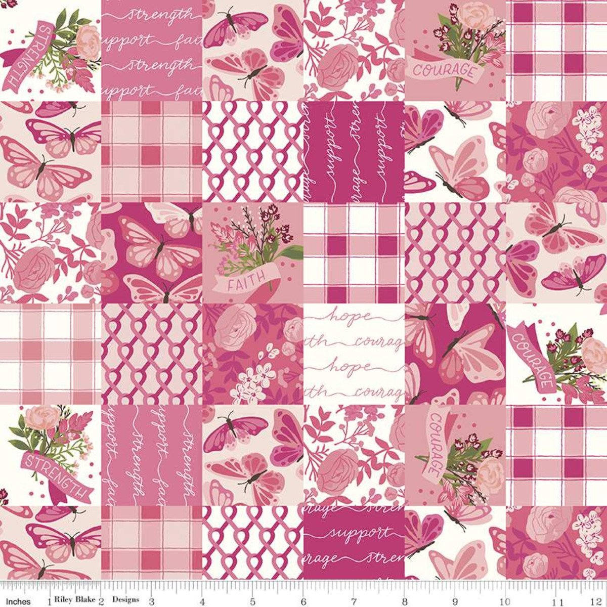 Hope In Bloom CH11027 Patchwork