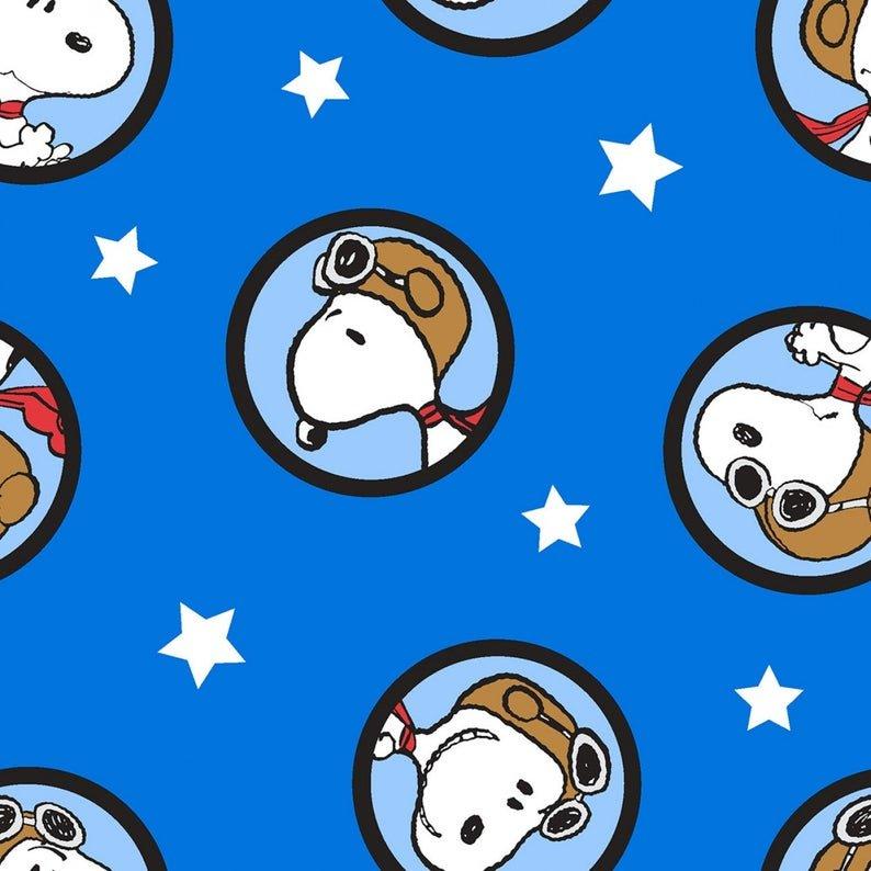 Charlie Brown Peanuts 69759 Snoopy Badges Blue