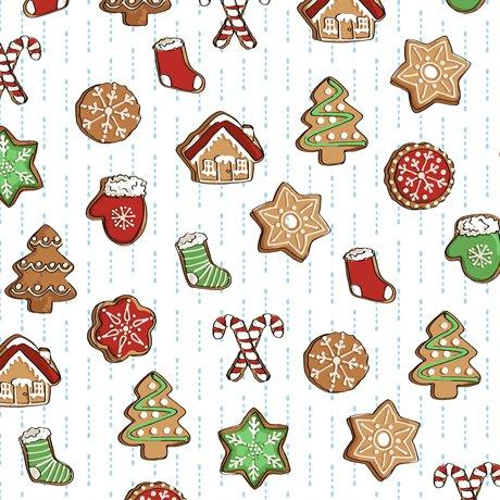 Christmas Cookies 27829 White