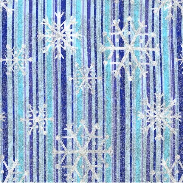 Snowfall CM2049 Blue Stripe Glitter