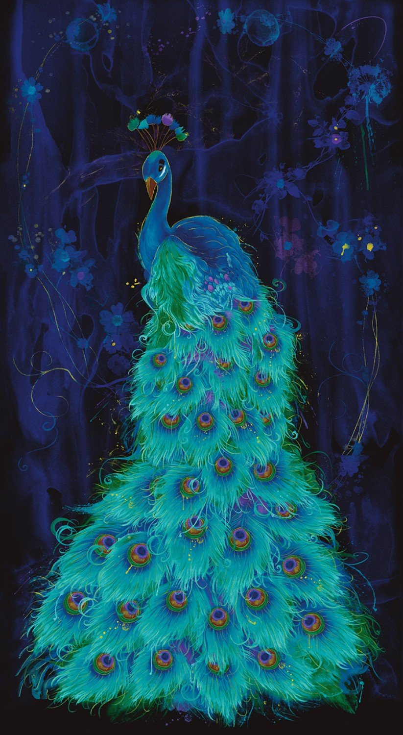 Midnight Plume CM6409 Peacock Panel