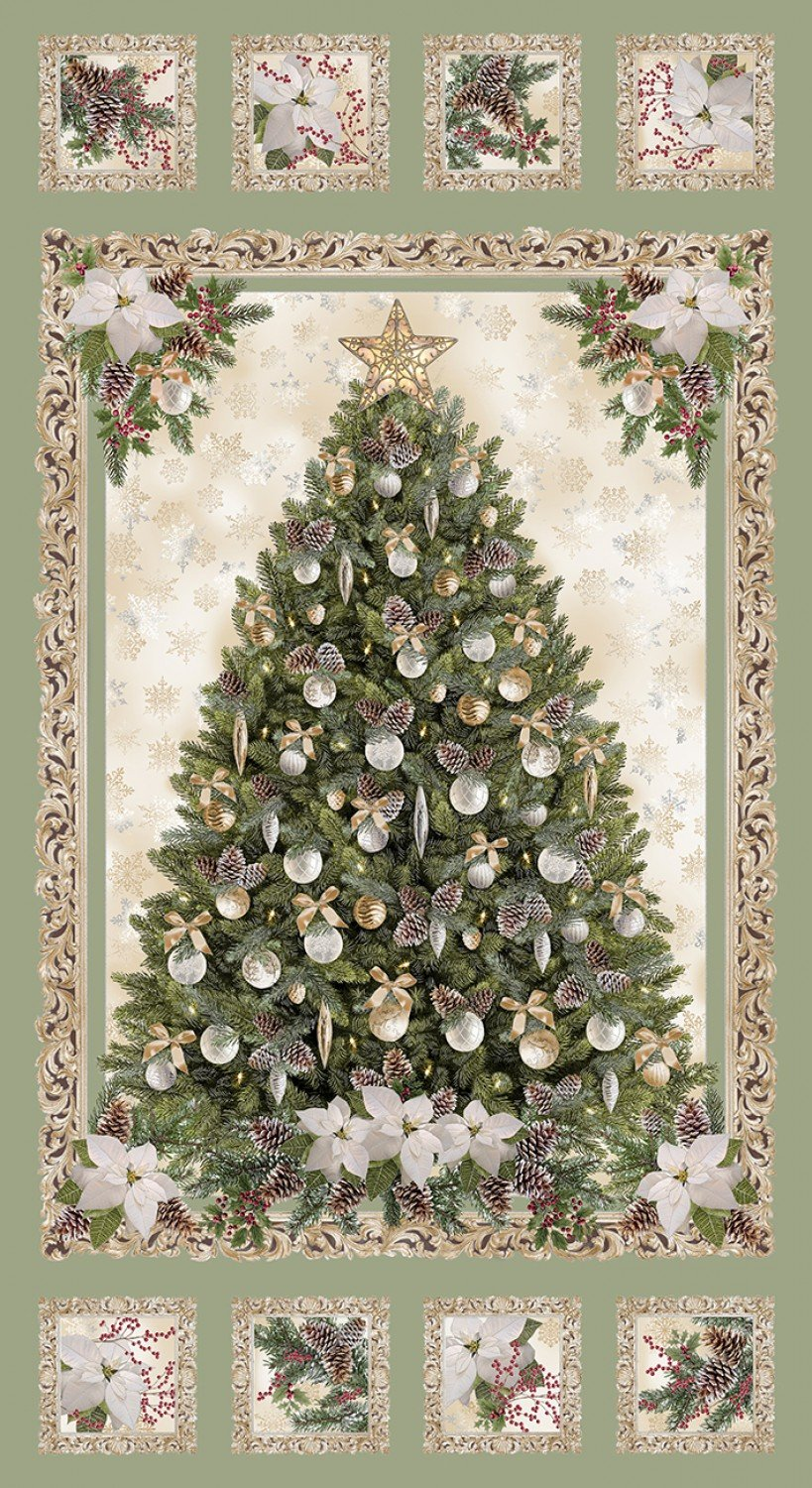Holiday CM6958 Christmas Tree Panel