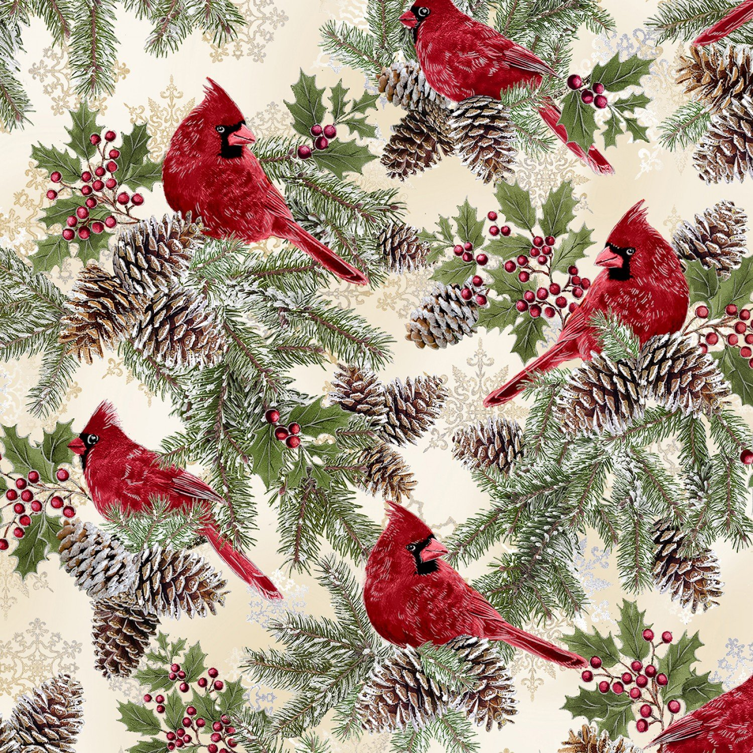 END OF BOLT - Holiday CM6959 Cardinals .46 YD