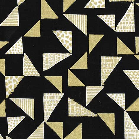 Just Right Triangles CM7380 Black & Gold
