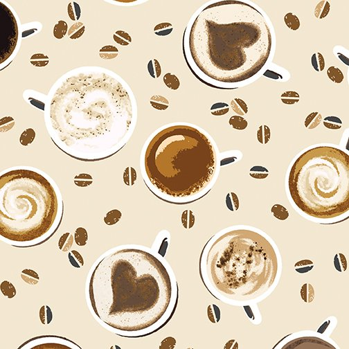 Coffee Perfect Blend 8876-07 Cups on Cream