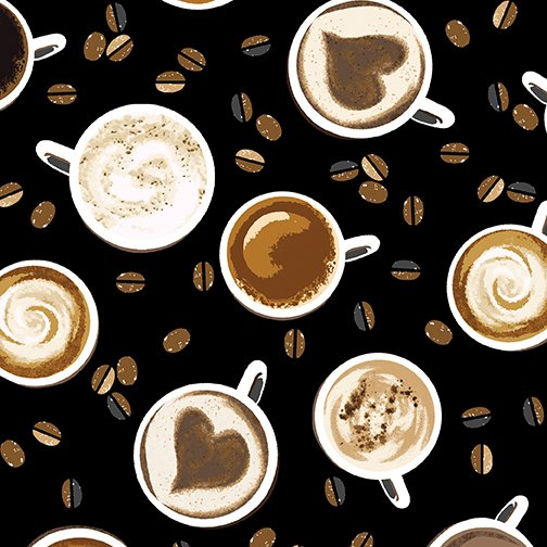 Coffee Perfect Blend 8876-12 Cups on Black