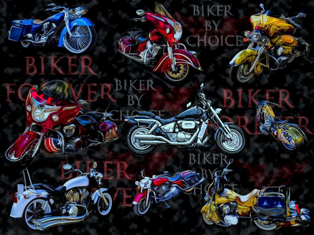 Biker by Choice Forever 3765 Black