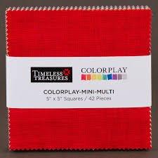 Bright Colorplay Mini Squares